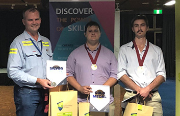 CS Energy apprentices win gold and bronze at WorldSkills
