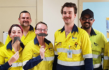 Callide Power Station employees make Movember matter
